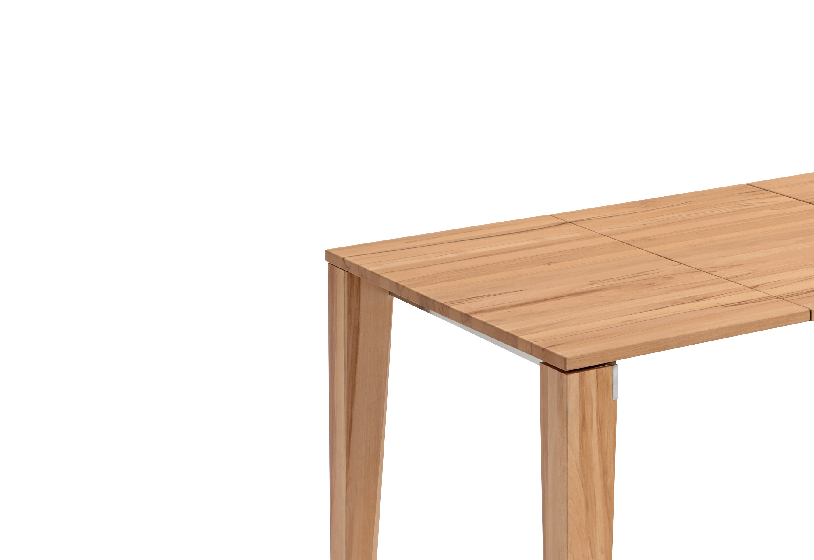 Oak light oiled finish dining tables with extensions